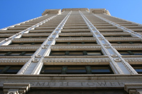 The 42-floor Smith Tower was the tallest building on the West Coast when it was built in 1914.