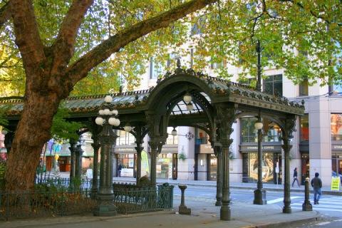 Iron Pergola, Pioneer Square