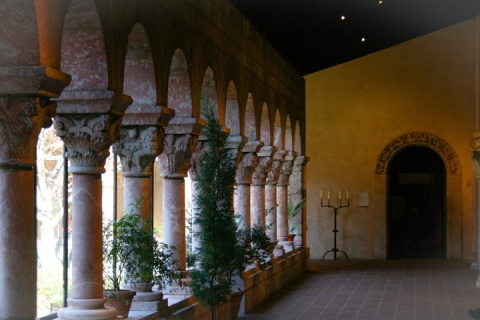 One of the pillared cloisters