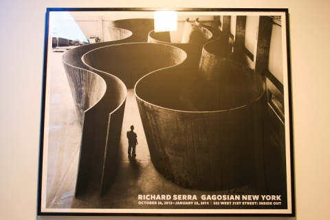 Richard Serra's Inside Out at the Gagosian Gallery