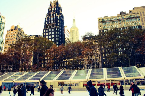 Bryant Park hosted a Holiday Market and ice rink