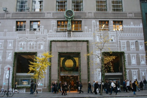 Tiffany's store front on Fifth Avenue