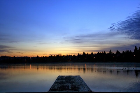 The dawning day at Green Lake