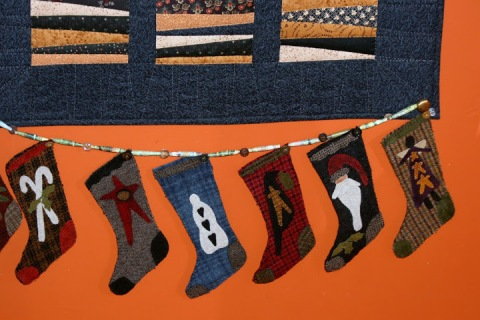 Woolen stocking garland