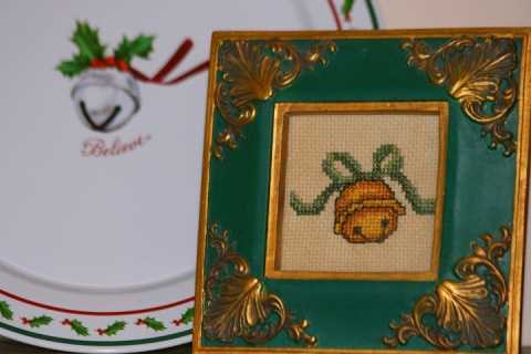 Cross-stitched jungle bell