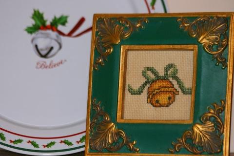 Cross-stitched jungle bell