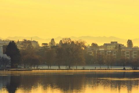 January morning at Green Lake