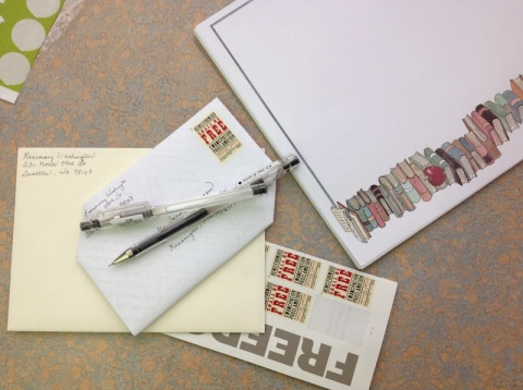 Turn the letter over, address, and add stamp.  Voila!