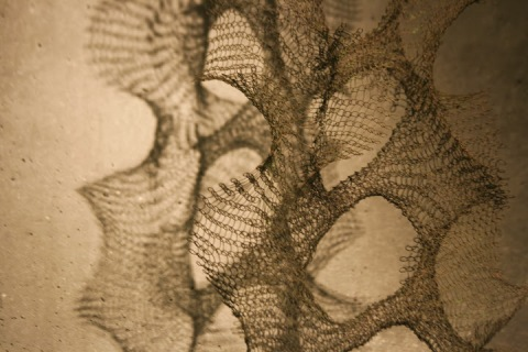 One of Ruth Asawa's wire sculptures, de Young Museum