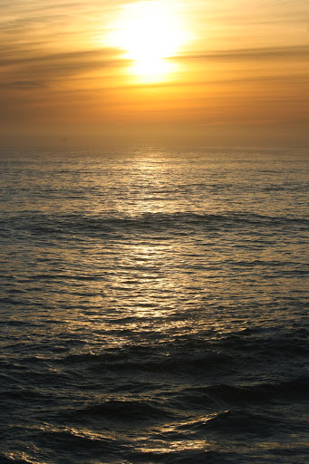 Sunset over the Pacific at Santa Cruz