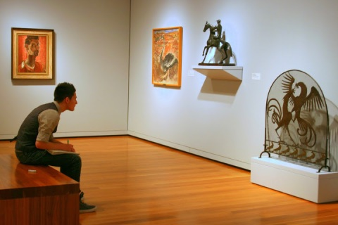 Seattle Art Museum, student at work