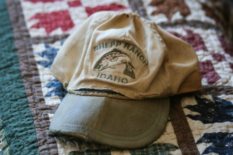 One of Dad's well-worn billed caps