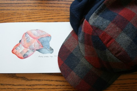 My Dad's plaid woolen cap