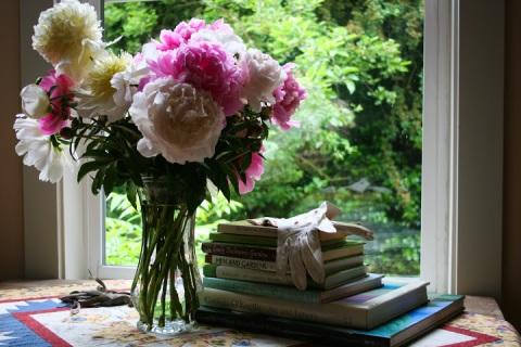 Bouquet of fresh peonies from Carol's garden