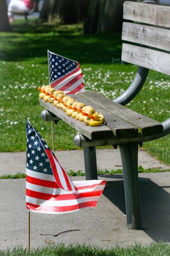 A Memorial Day display at Green Lake