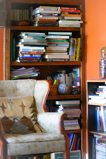 One of my overflowing bookcases