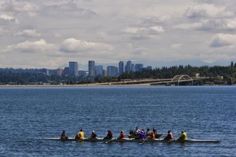 Rowers on Lake Washington