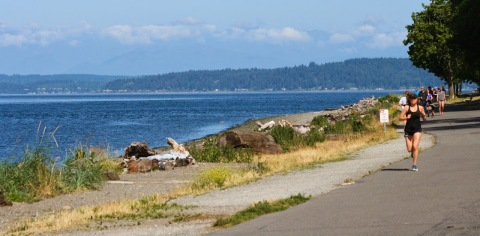 Beach at Lincoln Park on Puget Sound