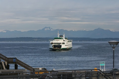 Ferry coming into the downtown terminal