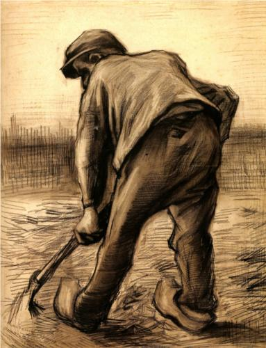 Digger in a Potato Field, Vincent van Gogh, 1885