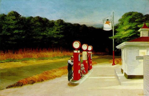 Gas by Edward hopper, 1940