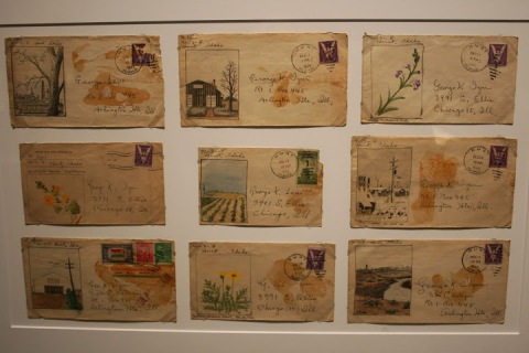 Painted envelopes by Mikisaburo Izui, interned at Minidoka