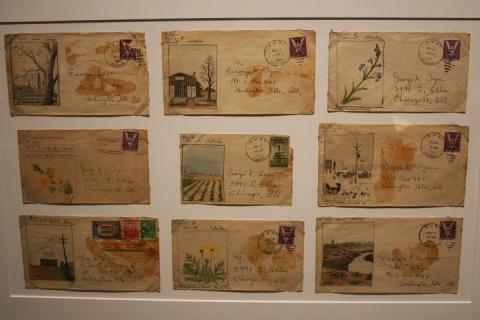 Painted envelopes by Mikisaburo Izui, interned at Minidoka