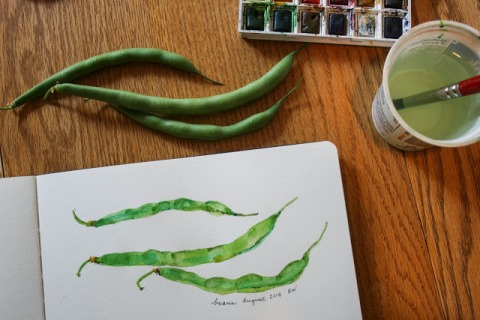Painting green beans