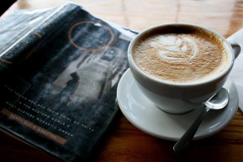 Latte and a book