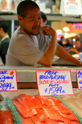 Fish vendor at the Pike Place Market