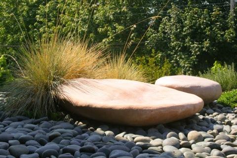 Stone garden, Bainbridge Island Museum of Art