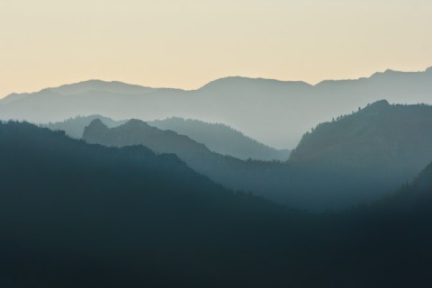 Cascade Mountains from Sunrise