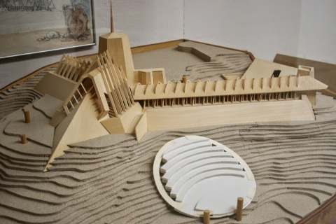 Model of Pilgrim Congregational Church, designed by Frank Lloyd Wright.