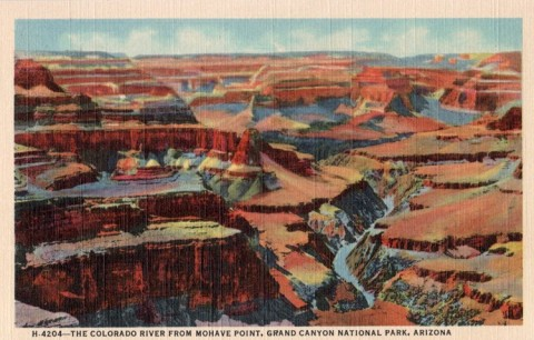 Vintage postcard of the Grand Canyon