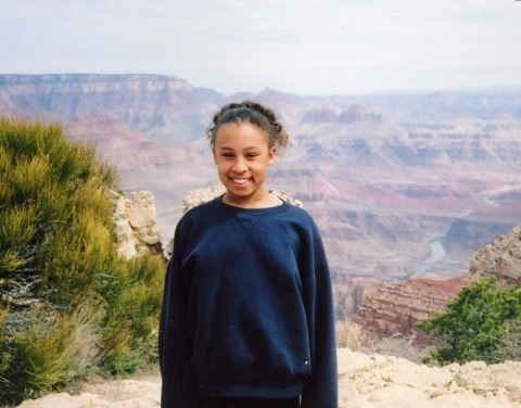 My daughter at the Grand Canyon, 2005