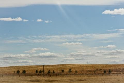 The big skies of Nebraska from along I-80