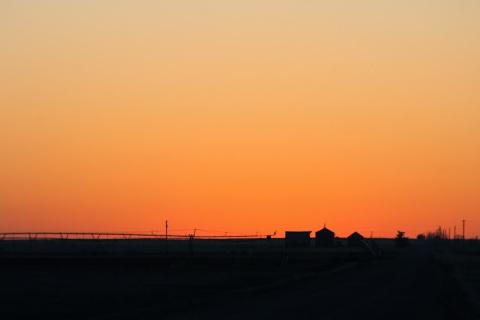 Nearing sunrise, Nebraska
