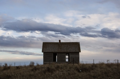 Abandoned house along Hwy 14, CO