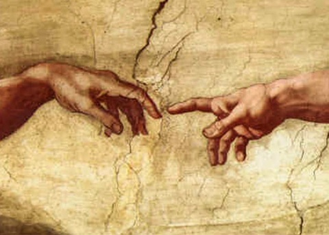 Detail, The Creation of Adam by Michaelangelo
