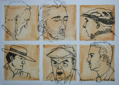 Ink sketches; portraits