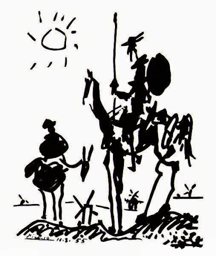 Picasso's sketch of Don Quixote, 1955