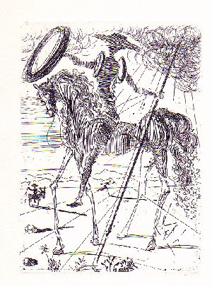 Don Quixote sketch by Salvador Dali