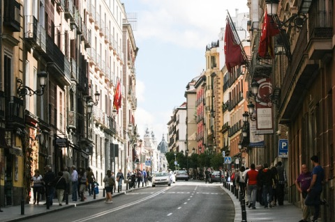 Day time street scene in Madrid