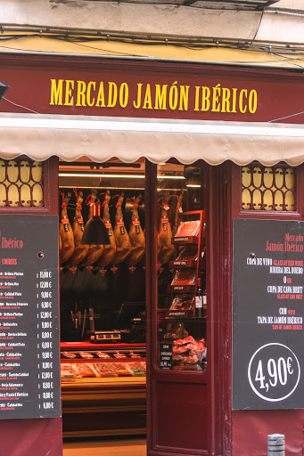 A ham shop in Madrid