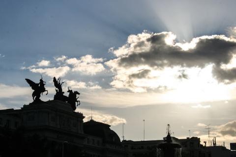 Early morning near the Atocha train station, Madrid