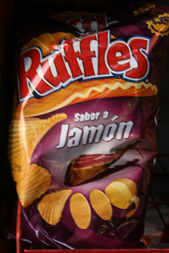 Ham-flavored Ruffles potato ships