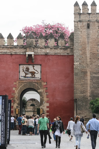 Entrance gate to the Alcazar, Seville