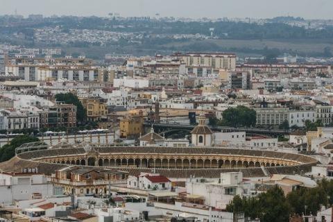 Seville's bullring seen from La Giralda Tower