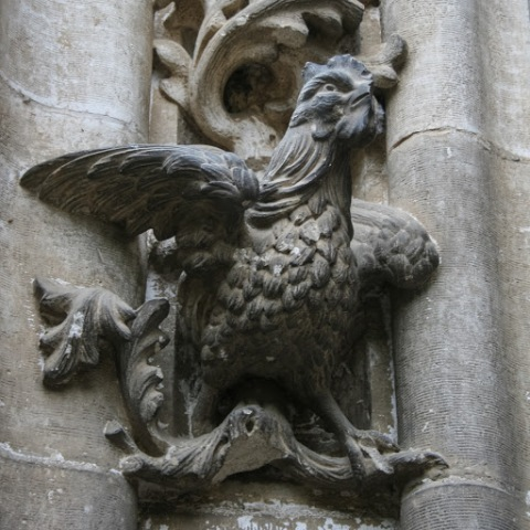 Detail, exterior Seville Cathedral (I loved this rooster!)