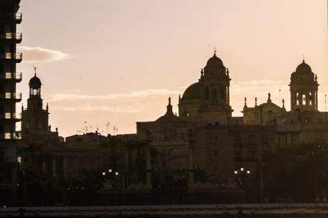 Cadiz nearing sunset